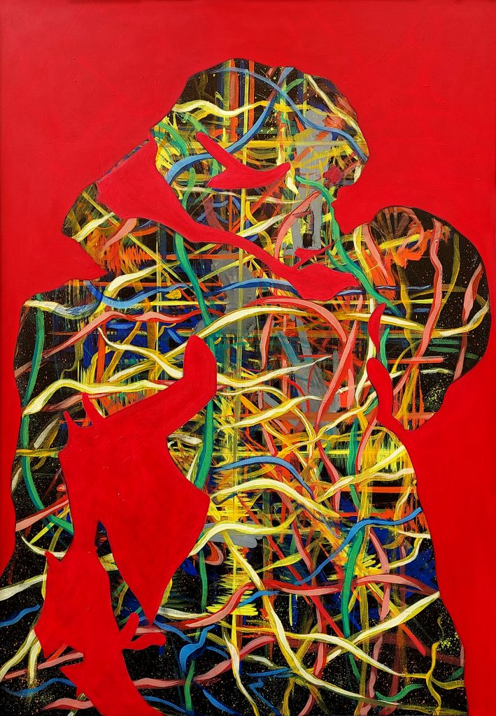 The kiss, oil on canvas, 100X70cm, 2007